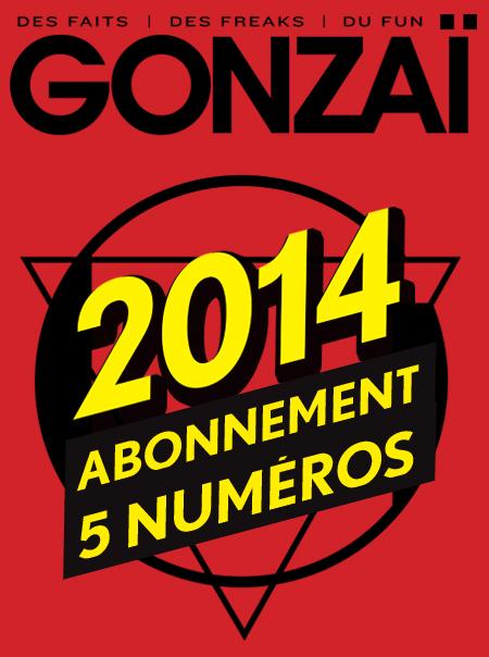 Abonnement Gonzaï 2014