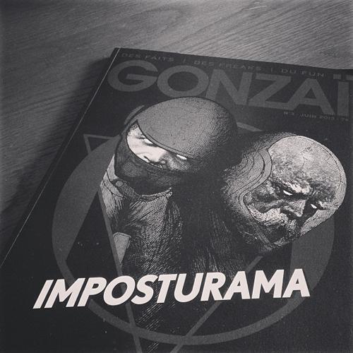 Gonzaï n°3 by Elzo. L'une de nos plus belles couvertures à ce jour pour un énième dossier compliqué à pitcher.