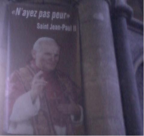 """Le mot de la fin pour Jean-Paul II : """"N'ayez pas peur"""", © Alcatel 98"""