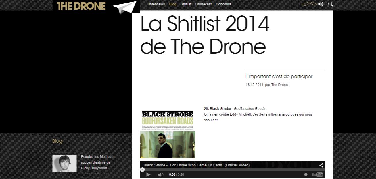 La Shitlist 2014 de The Drone The Drone