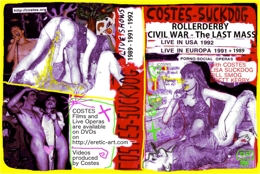 Cover DVD : Costes & Suckdog Live Shows 1989-1992.