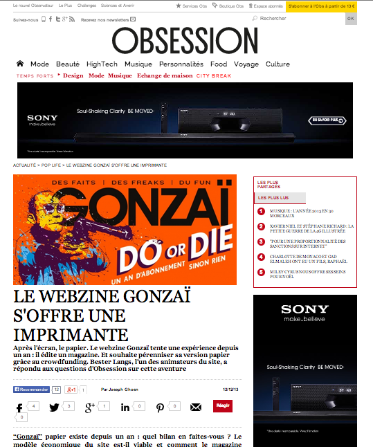 Obsession -Nouvel Obs