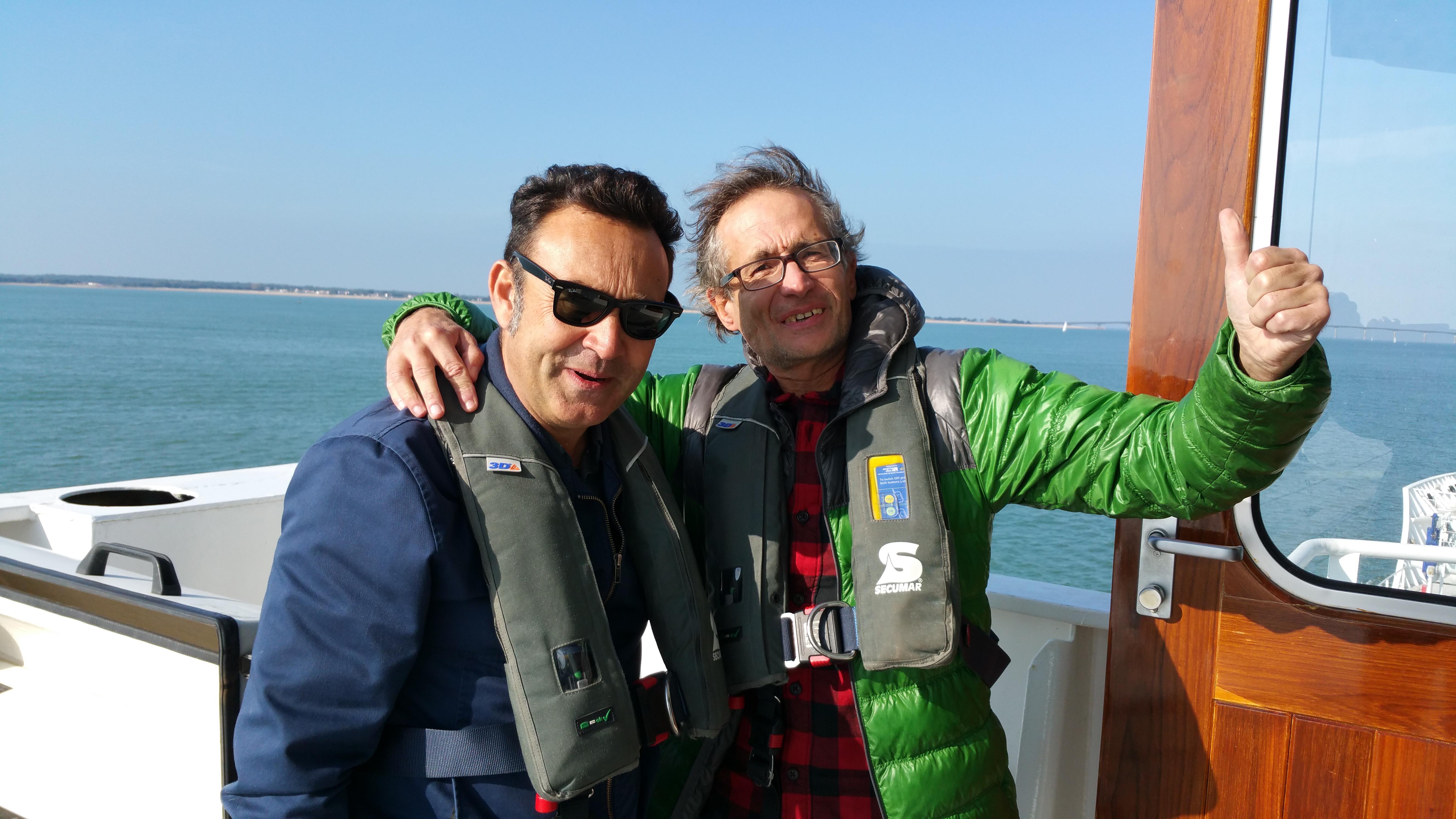 David et Didier des Wampas sont sur un bateau...