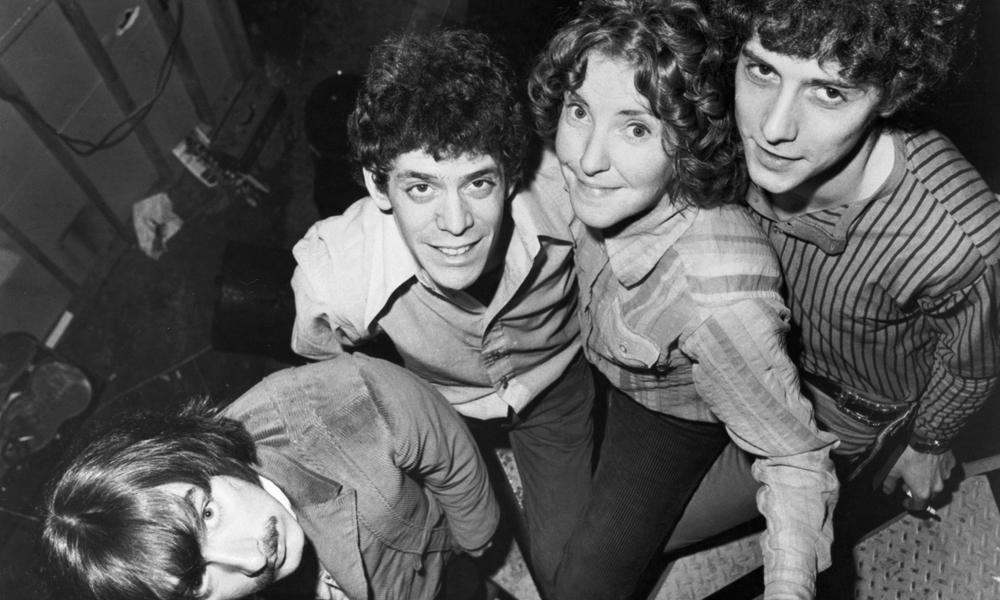 1968-1970 --- The Velvet Underground rock group.  L-R:  Sterling Morrison, Lou Reed, Moe (Maureen) Tucker, and Doug Yule. --- Image by © CORBIS