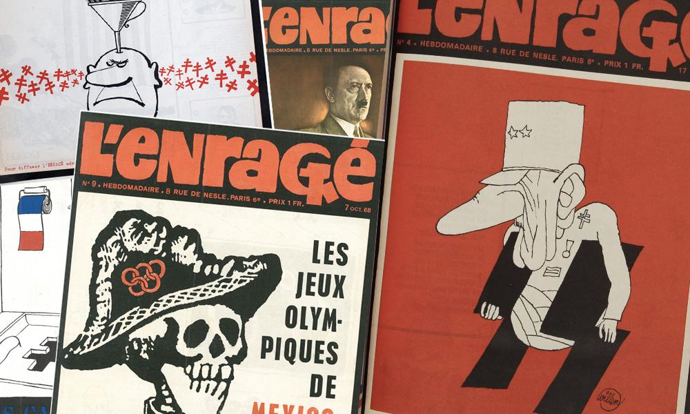 produits de qualité promotion recherche d'officiel L'Enragé, le journal le plus hardcore de 68, ressort des ...
